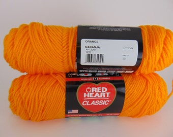 orange -  Red Heart Classic yarn worsted weight  2024