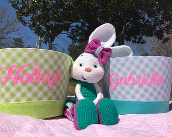 Personalized Canvas Easter Basket