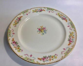 Edward M Knowles Floral Plate Marked 46-1 | Vintage Dinner Plate | Vintage China Plates | Vintage China | Decorative Plate | Vintage Plate