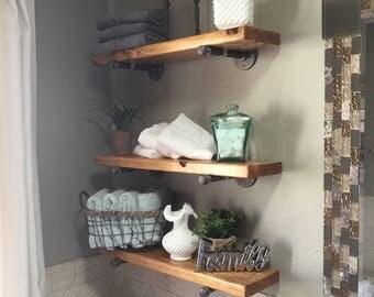Floating Shelves | Farmhouse Floating Shelf | Kitchen Shelf | Rustic Floating Shelves
