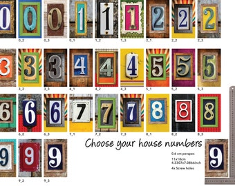 door numbers, house number plaque, Outdoor name sign, mailbox numbers , gift for new house , address signs, decorative numbers