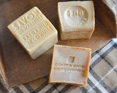 Three French Cold-pressed Vintage Soap Cubes