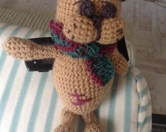 Retro Cat, knit plushie stuffed toy, Baby Shower Gift, hand knit Kitty Cat. Вязаная игрушка. Кот