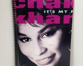 SALE Chaka Khan Album Cover Notebook Handmade Spiral Journal It's My Party