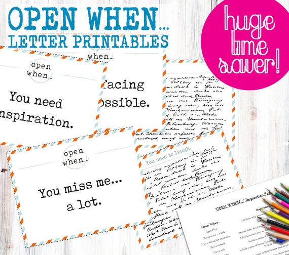 30 open when letter pre made printables print instantly to 30 open when letter pre made printables print instantly to save time envelope covers blank cards inspiration page envelope template pronofoot35fo Images