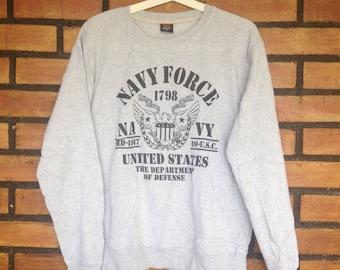 Sale Sale Sale Vintage Grey US Air Force Navy Force
