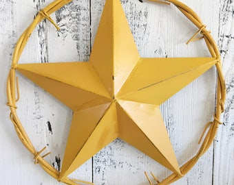 Light Metal Star, Lone Star, Texas Star, Barb Wire