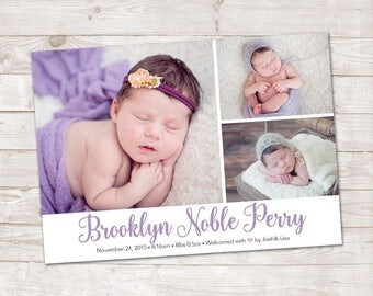 Baby Girl Birth Announcement, Birth Announcement, Baby Boy photo announcement, It's a girl, It's a boy, New Baby Announcement