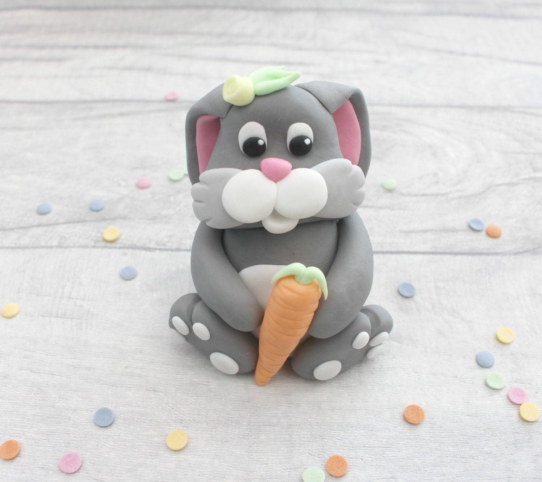 Bunny cake topper rabbit cake decoration fondant cake