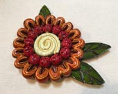 Red and Orange 3D Flower ...