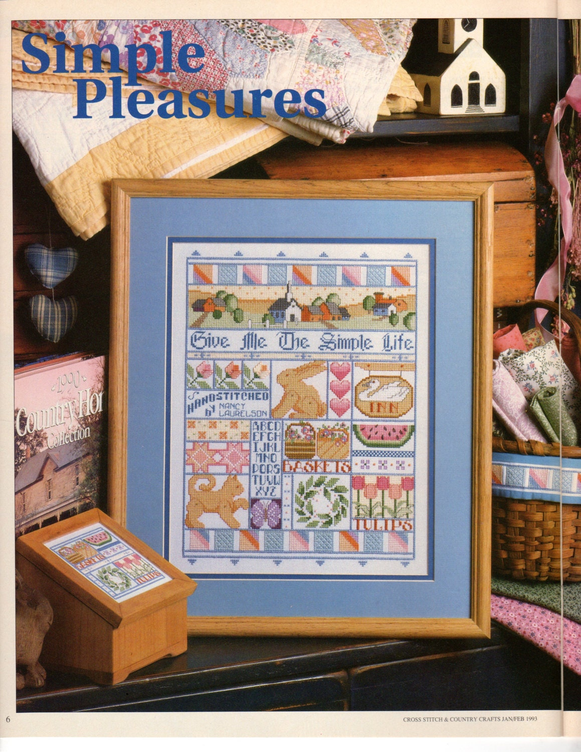 Cross stitch country crafts magazine back issues - Cross Stitch Country Crafts Issue Jan Feb93 Sold By Kryssyscraftstash