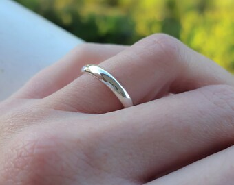 Sterling silver wedding band - Sterling silver wedding ring - Sterling silver ring - Wedding band - Wedding ring - 3mm wedding band