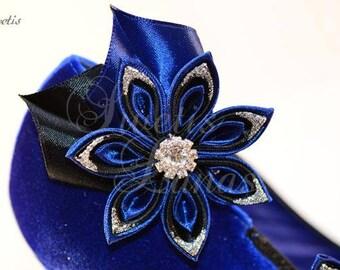 Shoe clips sparkle 2PC set, satin flower shoe clip rhinestone shoe clip, shoe clips, Bridal, shoe clips, shoe clips, shoe clip, kanzashi