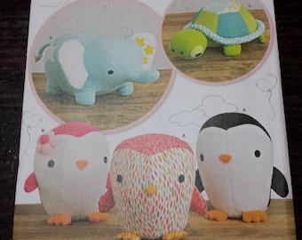 stuffed animal sewing pattern, plush, plushie, simplicity