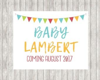 Digital Pregnancy Announcement | Baby Announcement
