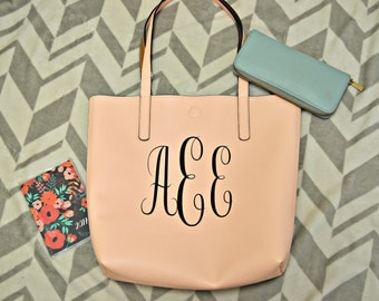 monogrammed pleather tote!