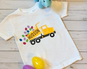 Boys Easter Dump Truck Shirt! Personalized!