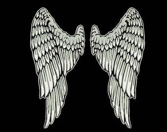Large Wings Angel embroidery design. Machine Embroidery Design. Instant Download.