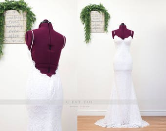 Sheath Wedding Dresses, Lace Sheath Wedding Dresses, Lace Wedding Dresses, Wedding Dress, Bohemian Lace Wedding Dress, Bridal Dresses. #D06A