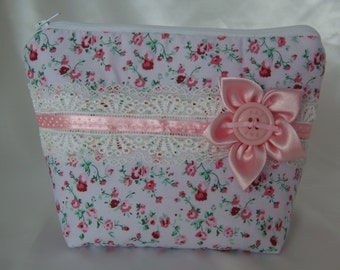 pink make up bag