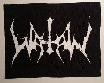 Watain patch white logo black metal