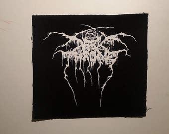Darkthrone patch white logo black metal