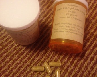 Certified Organic Wild Crafted American Ginseng Capsules