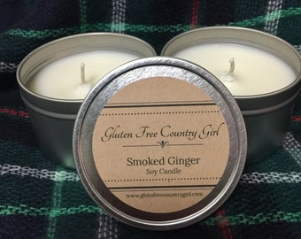 Smoked Ginger Scented Soy Candle