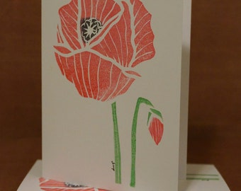 Hand Stamped Greeting Cards 3-ct