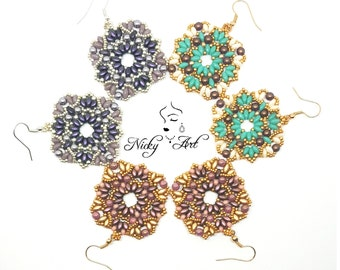 Earrings Vitral- beading pattern
