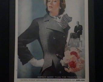 Philip Mangone, Vintage Women's Clothes, Designer Clothes, Collectible, Midcentury Fashion, Vintage Magazine Ad