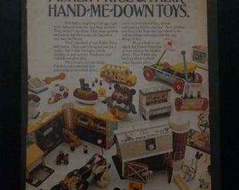 Fisher Price, Vintage Ad, Toys, Vintage Toys, Children's Wall Decor, Retro Toys