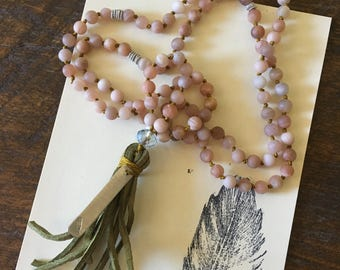 Intention Beaded Mala Necklace