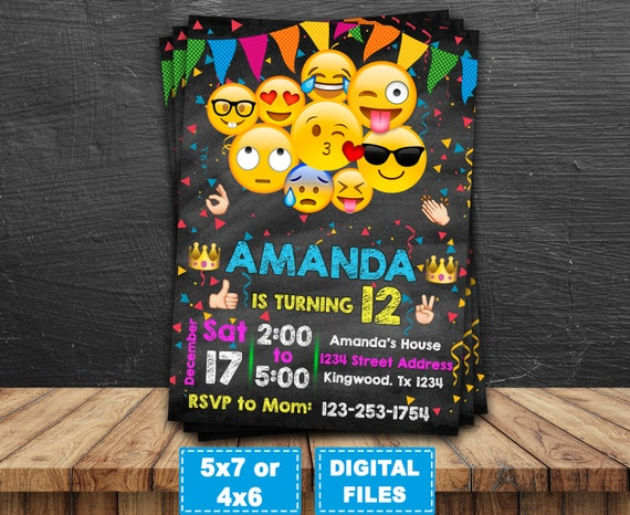 Emoji Printable Birthday Invitations Page Two Birthday Wikii - Birthday invitations inside out