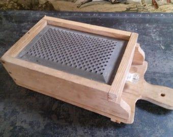Vintage Handmade Cheese Grating Box