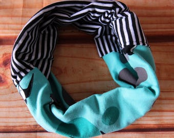 6-36 months - Irondelles reversible infinity scarf