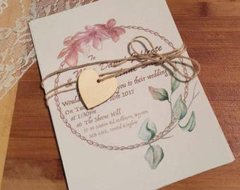 Blossom wedding invite