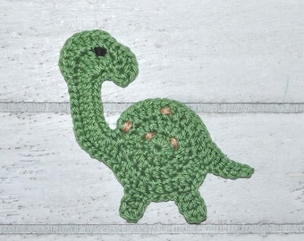Dino - Langhalsdino - Application - CROCHET