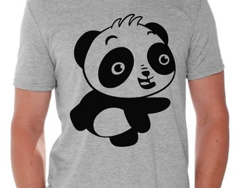 Happy Panda Shirt Gift for Him Valentines Day