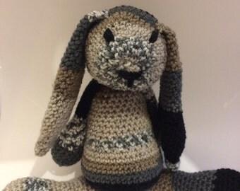 Crochet Bunny Toy - Crochet Amigurumi Bunny - Stuffed Rabbit Plushie