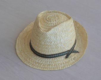 Straw hat - kids, portuguese straw, handmade, Summer Sun Hat, kids size.