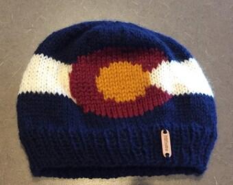 Colorado flag winter hat