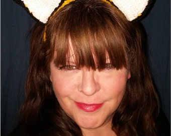 Fox Ear Crocheted headband