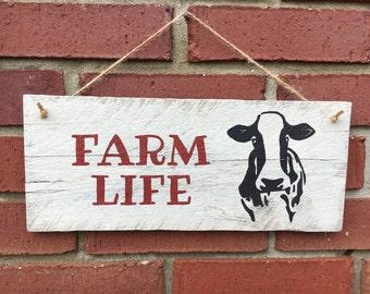 Farm Life Wood Sign