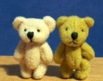 Miniature Set of 2 Teddy Bears