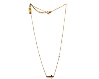Golden chain neckless Cross and Rhinestone