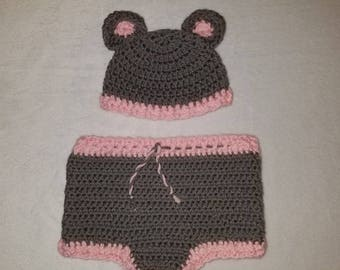 Mouse Hat & Diaper Cover