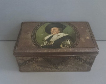 Vintage Thorne's Toffee Tin Laughing Cavalier