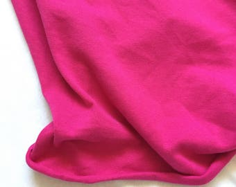 Knit Fabric, Jersey Knit Fabric, Fabric by the Yard, Stretch Fabric, Cotton Knit Fabric - Fuchsia