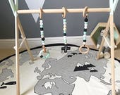 BABY PLAYGYM (with toys)  Beech wood  Gym toys  Baby Gym  Modern nursery